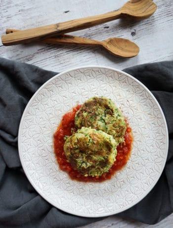 Zucchini Tuna Fritters with Tomato sauce