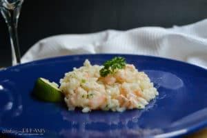 Mojito shrimp risotto