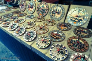 3 Days in Prague - Wooden clocks at the market