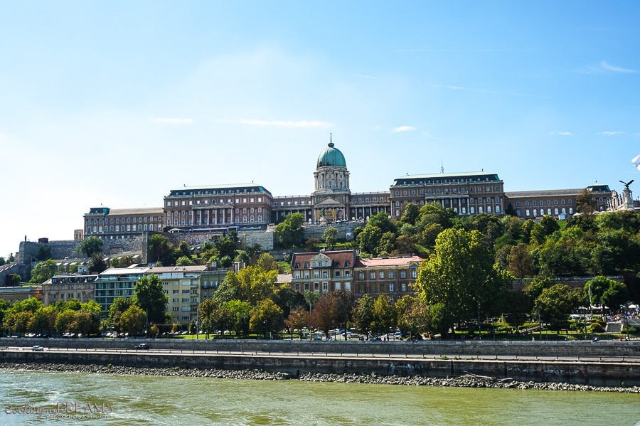 view form the danube of the Buda castle