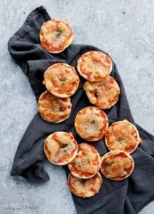 puff pastry mini margherita pizza