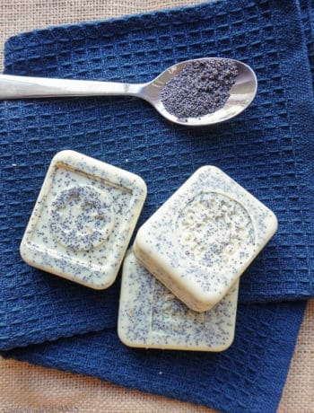 lemon poppy seed handmade soap