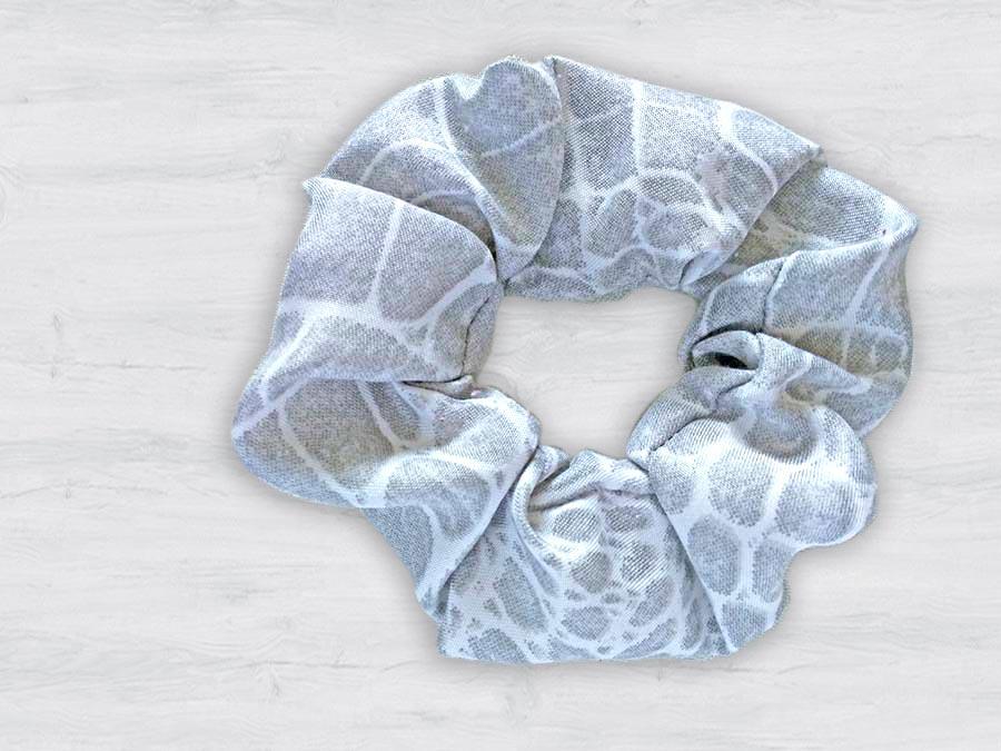 photo of a handmade scrunchie
