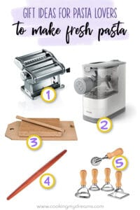 pictures of 5 gift ideas to make fresh pasta