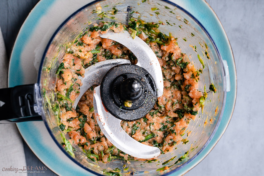 how to make salmon cakes in a food processor