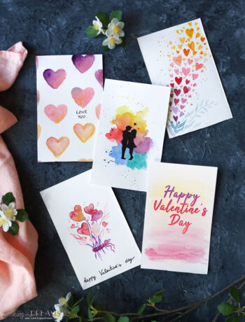 5 different printable valentine cards