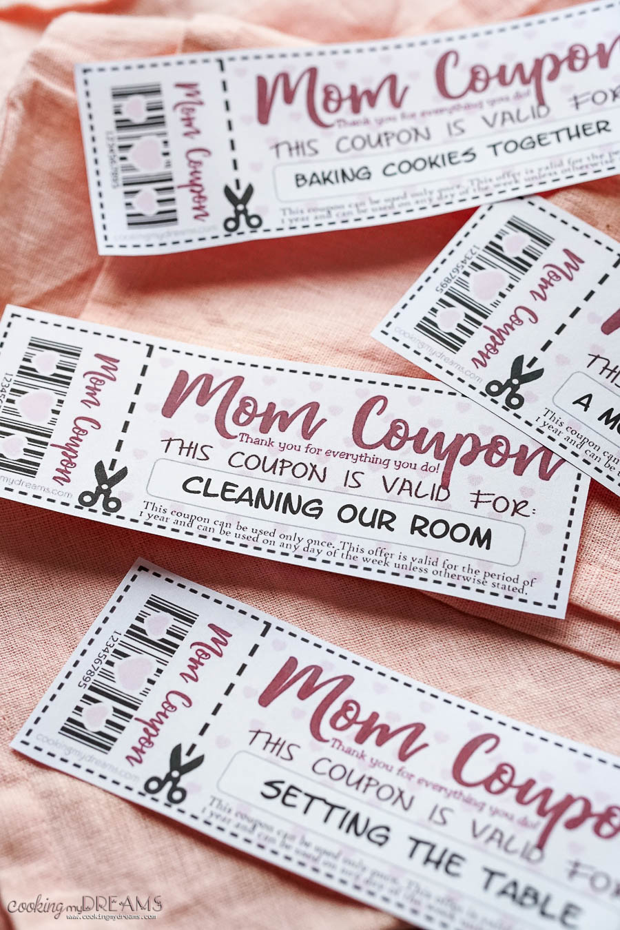 examples of mother's day coupons