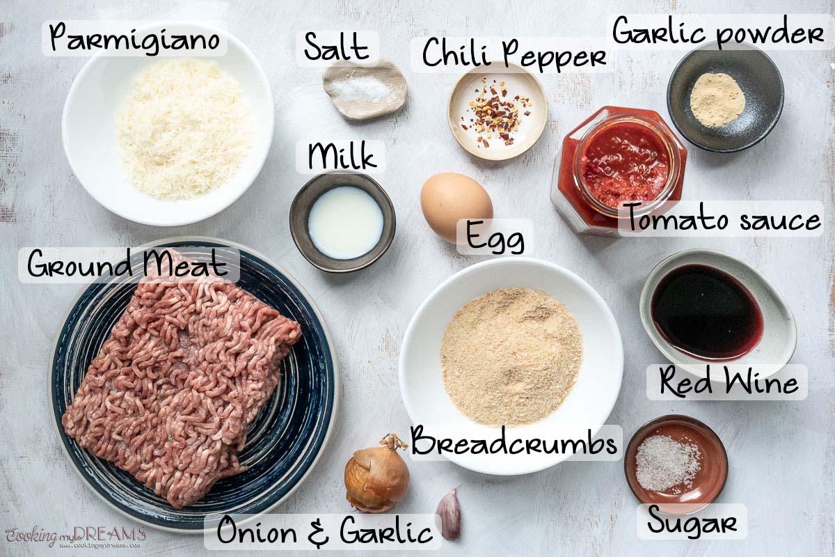 meatballs ingredient list