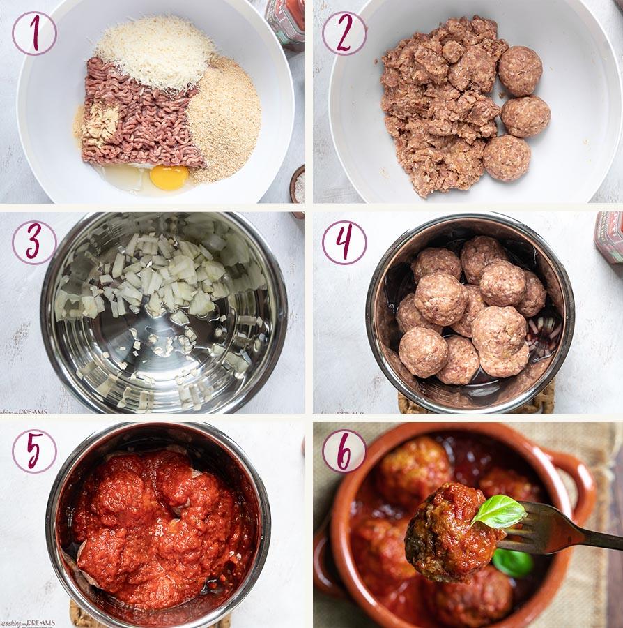 how to make polpette al sugo step by step